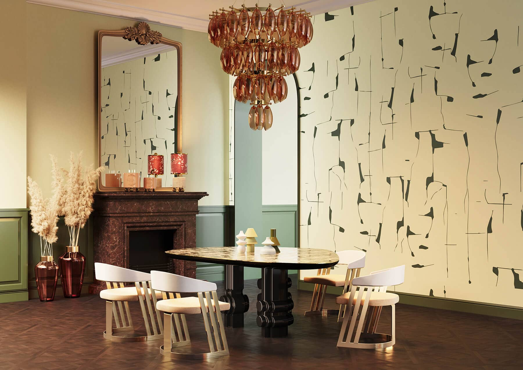 Art Deco dining set design