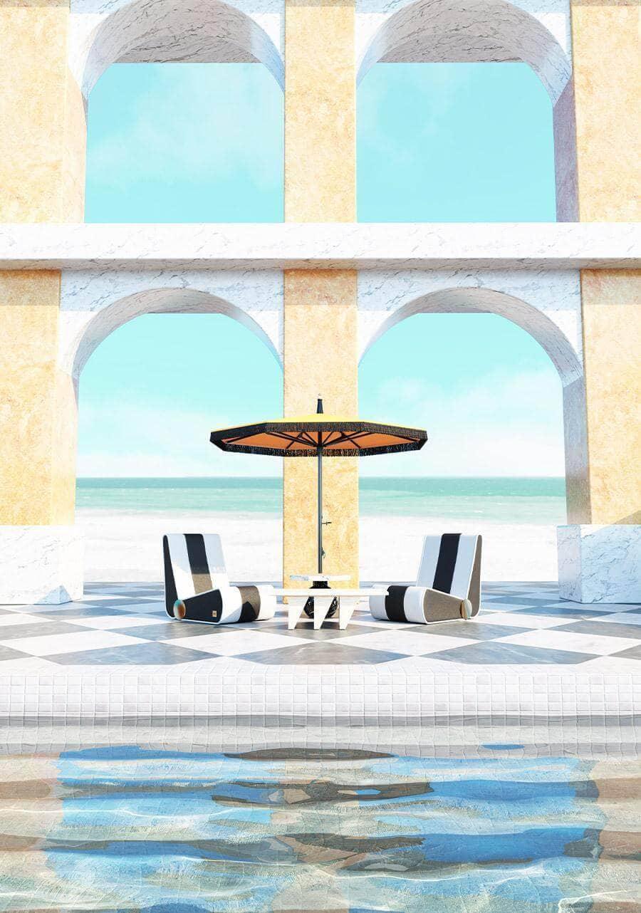 Blue Rivera - Modern Outdoor Lounge
