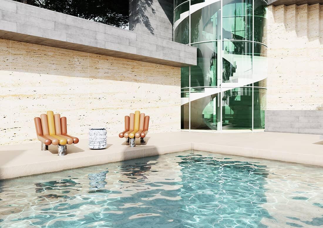 modern  outdoor furniture collection - modern outdoor design ideas